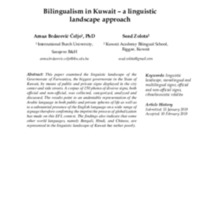 Bilingualism in Kuwait – a linguistic landscape approach